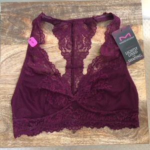 383331dba4 Maidenform Intimates   Sleepwear - MAIDENFORM LACE T-BACK magenta jam  BRALETTE dm1126
